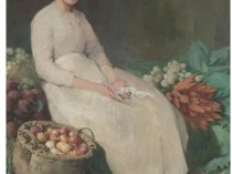 Emil Carlsen Girl in Vegetable Shop, 1897