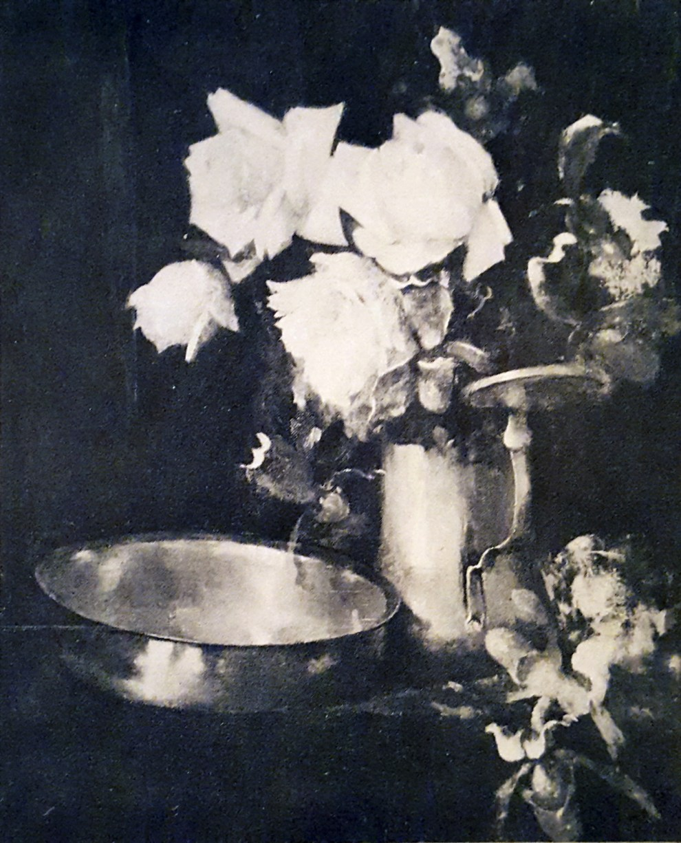 Emil Carlsen Pink Roses and Brass Bowl, ca.1897