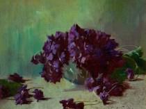 Emil Carlsen : Still life with violets, ca.1897.