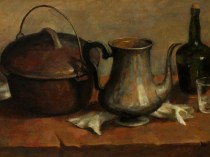 Emil Carlsen Still Life with Kitchware, ca.1899