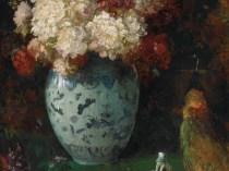 Emil Carlsen : Peonies and kang hsi vase, ca.1885.