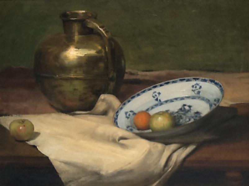 Emil Carlsen : Copper jug and apples, 1900.