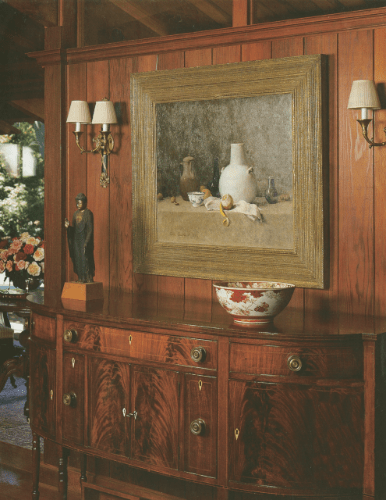 View of the present work in the Clark residence, reproduced in The Magazine Antiques, November 2001, vol. 160, no. 5, p. 684, photograph by Peter Brenner
