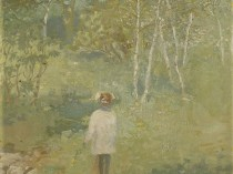 Emil Carlsen : Child in the forest, ca.1904.