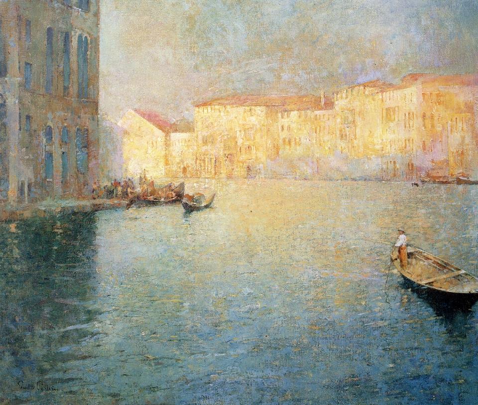 Emil Carlsen The Market, Venice, 1909