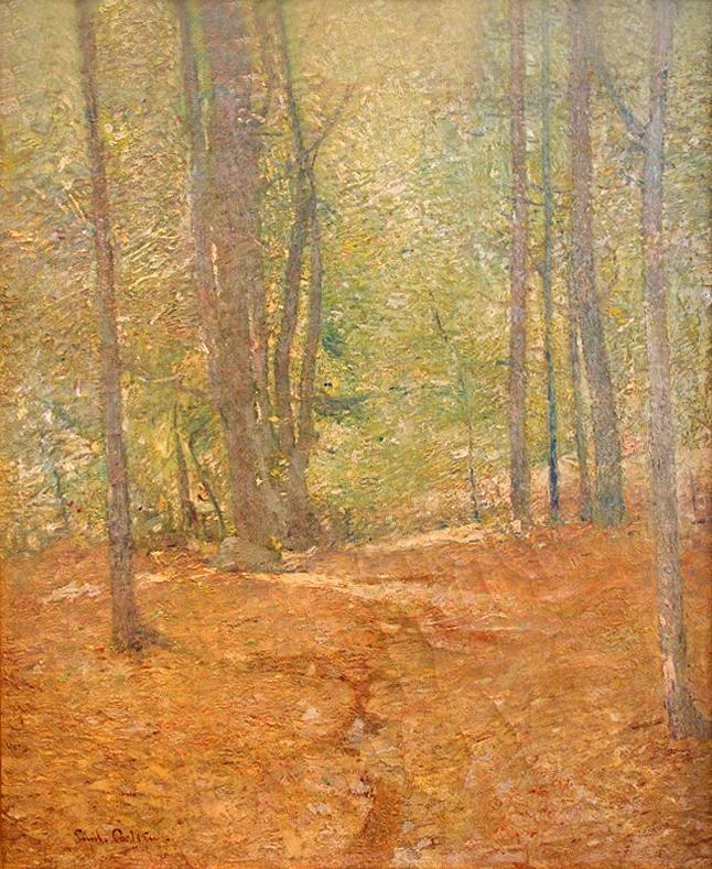 Emil Carlsen Wood Interior, ca.1909