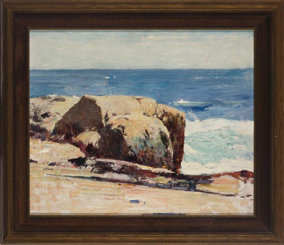 Emil Carlsen : Rocky shore, ca.1909.