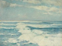 Emil Carlsen : Side running sea, ca.1909.