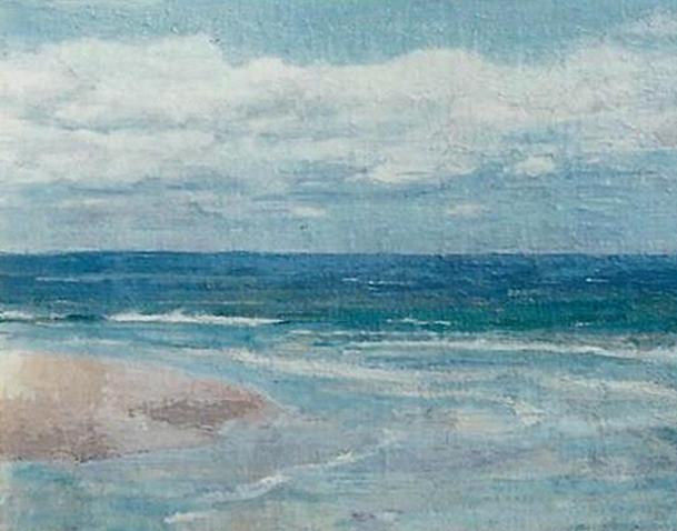 Emil Carlsen : Incoming tide, ca.1910.