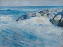 Emil Carlsen : Rocks and waves, ca.1908.