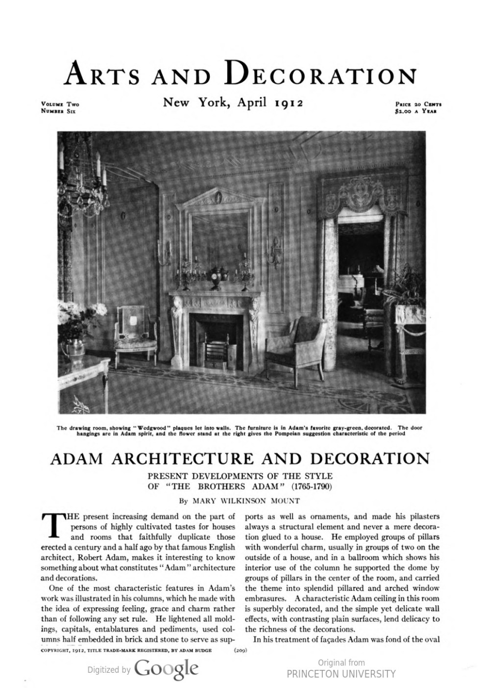 """Arts and Decoration, New York, NY, """"Exhibitions at the Galleries"""", April, 1912, Volume 2, Number 6, page 228, not illustrated"""
