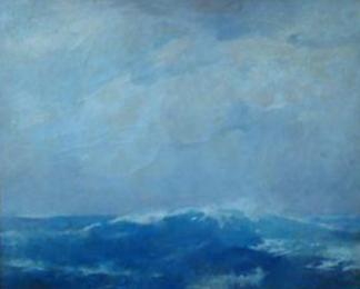 Emil Carlsen : Mood mid ocean, ca.1912.