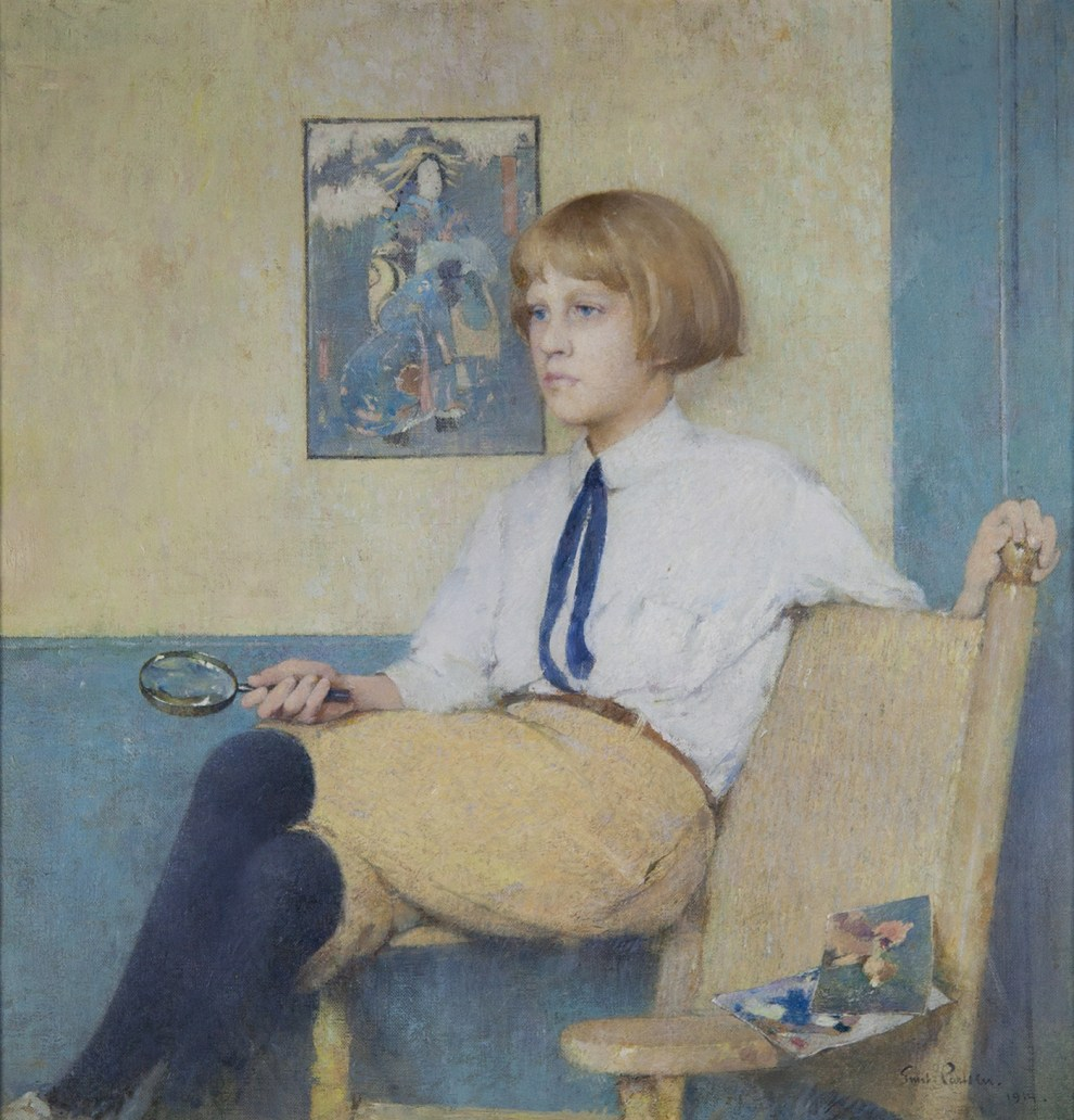 Emil Carlsen Portrait of Dines Carlsen (also called Portrait of Dines No. 3), 1914