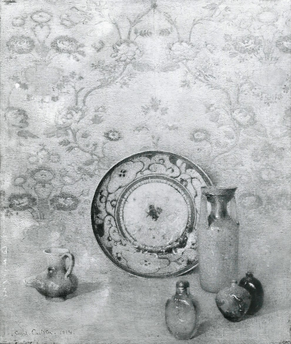 Emil Carlsen : Still life [the chinese plate], 1914.