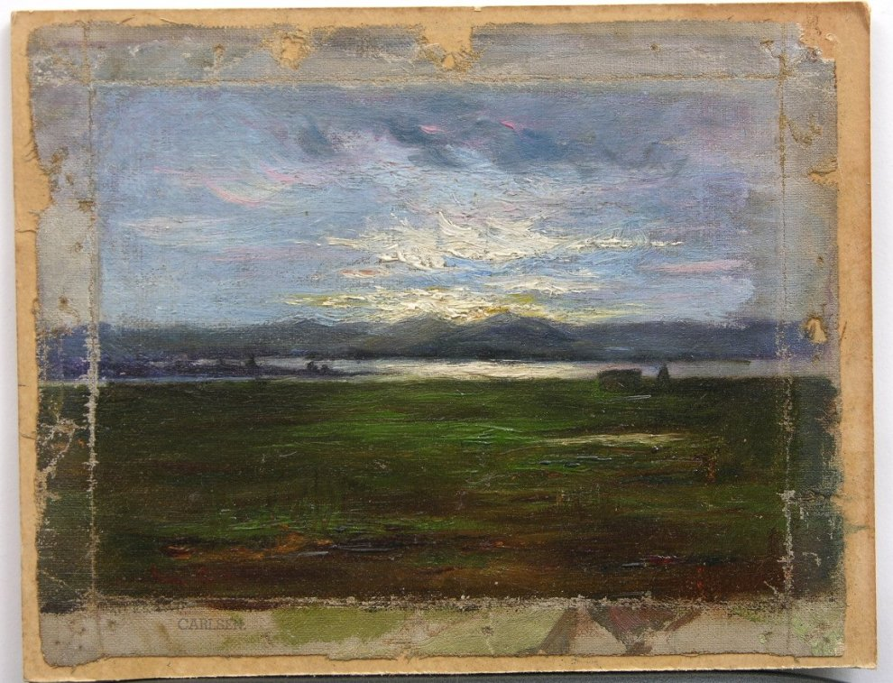 Sunset on The Coast (also called Sunset), c.1918  Unframed