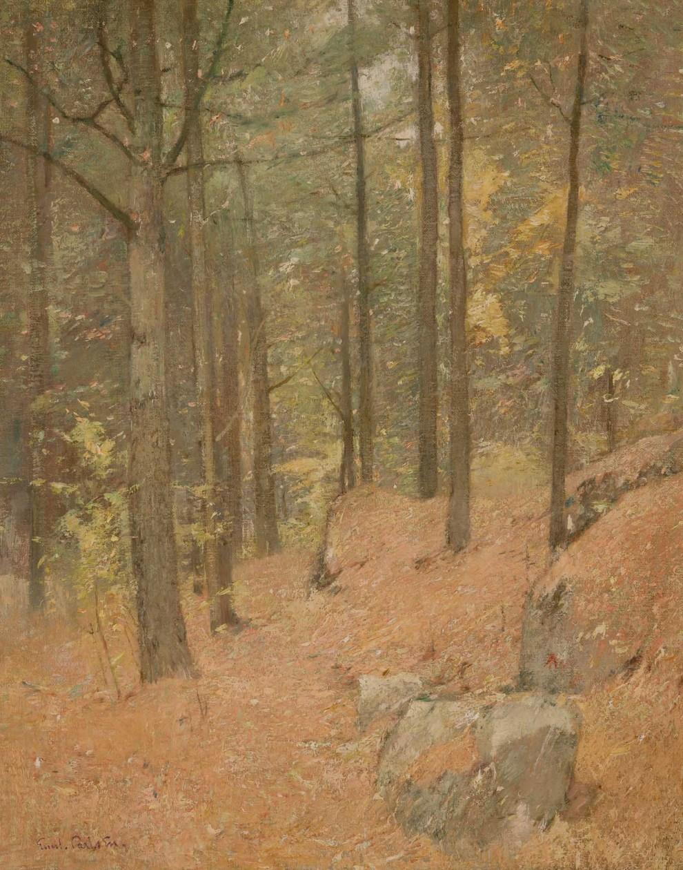 Emil Carlsen : Woods interior no. 1, 1918.