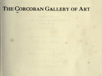 """Catalogue of the paintings in the Corcoran Gallery of Art"" by Corcoran Gallery of Art, Washington, DC, 1919"