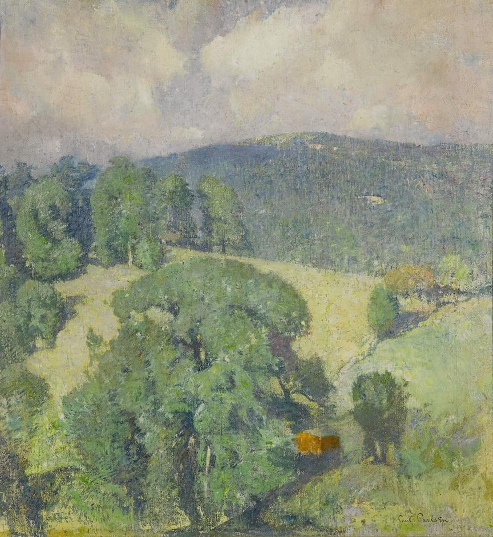 Emil Carlsen : Connecticut hillside, 1920.