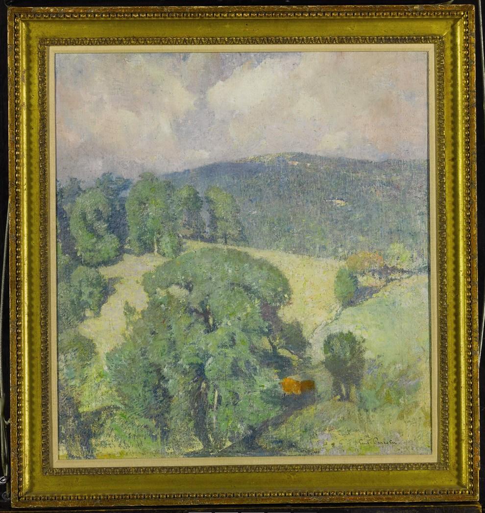 Emil Carlsen Connecticut Hillside, 1920 Framed