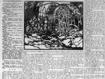 "Oakland Tribune, Oakland, CA, ""Artists and their work : Exhibitions—where, when and by whom"" by Laura Bride Powers, Sunday, August 13, 1922, page 47, not illustrated."