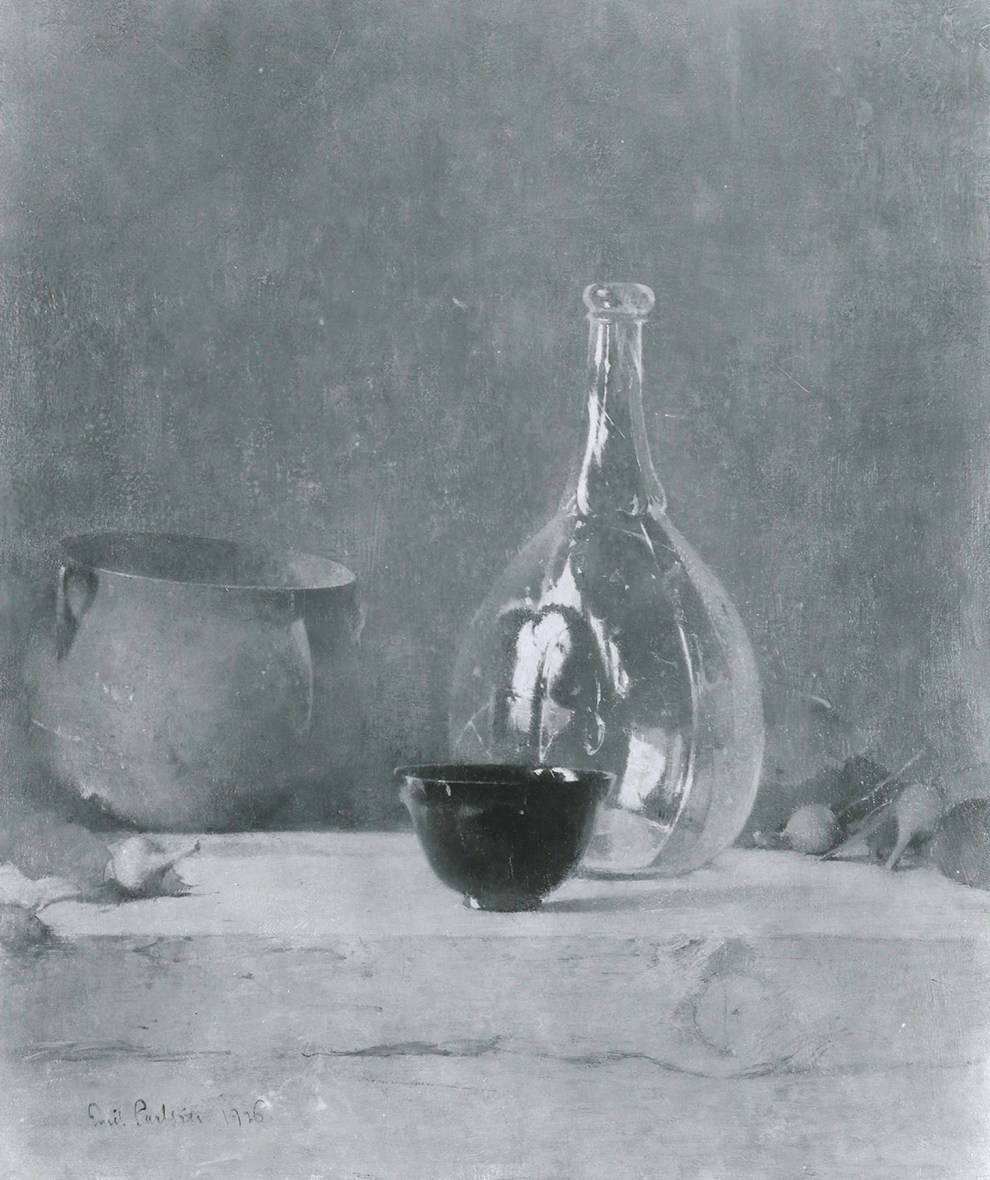Emil Carlsen Still Life with Glass Bottle (also called Green Bottle), 1926
