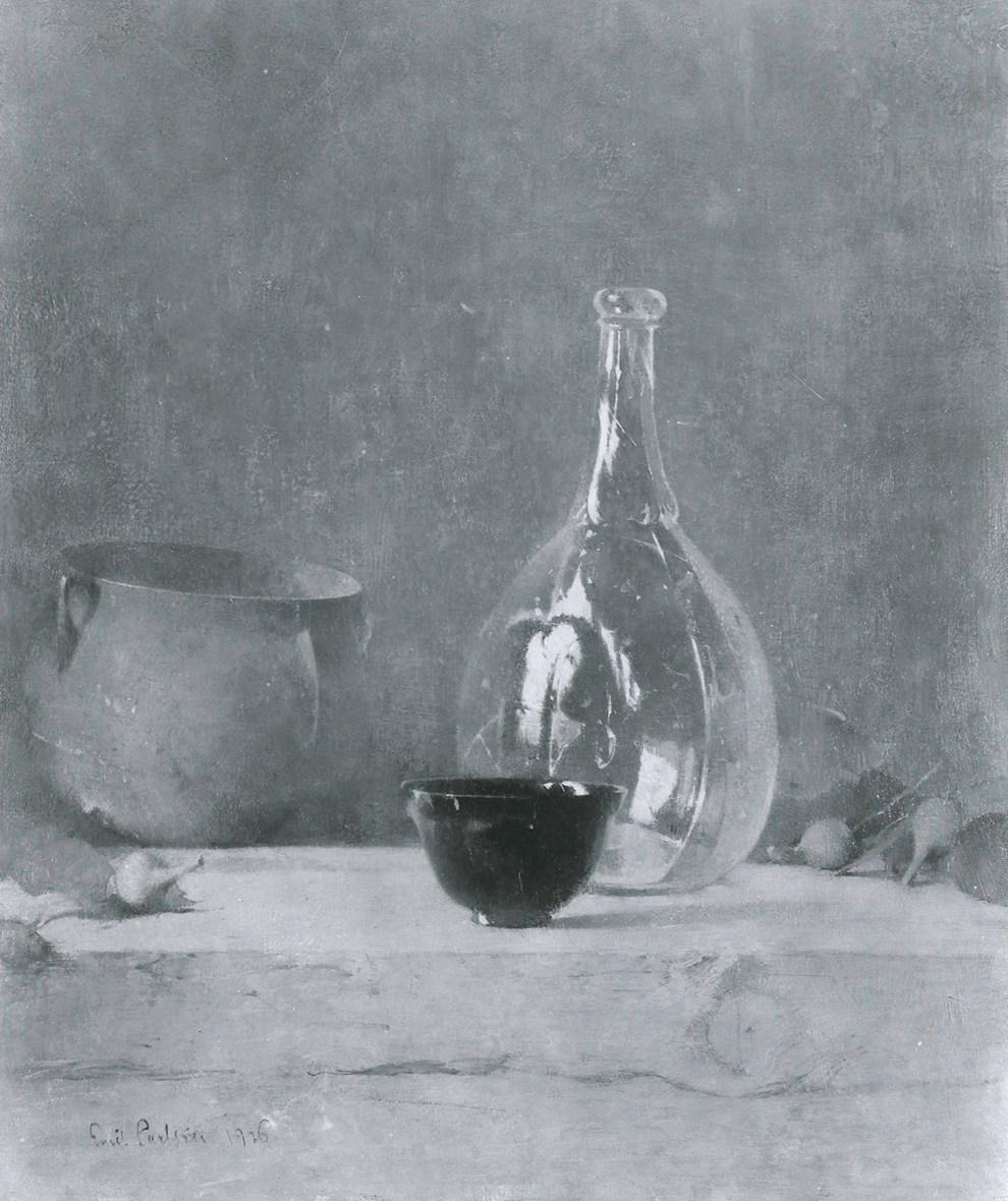 Emil Carlsen Still Life with Glass Bottle (also called Green Bottle), 1926