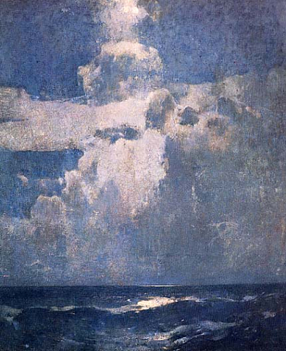 Emil Carlsen Clouds-Moonlight (also called Moonlight & Clouds Moonlight), 1928