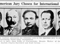 "Pittsburgh Post-Gazette, Pittsburgh, PA, ""American jury chosen for international"", Thursday, June 5, 1930, page 7, illustrated: b&w."