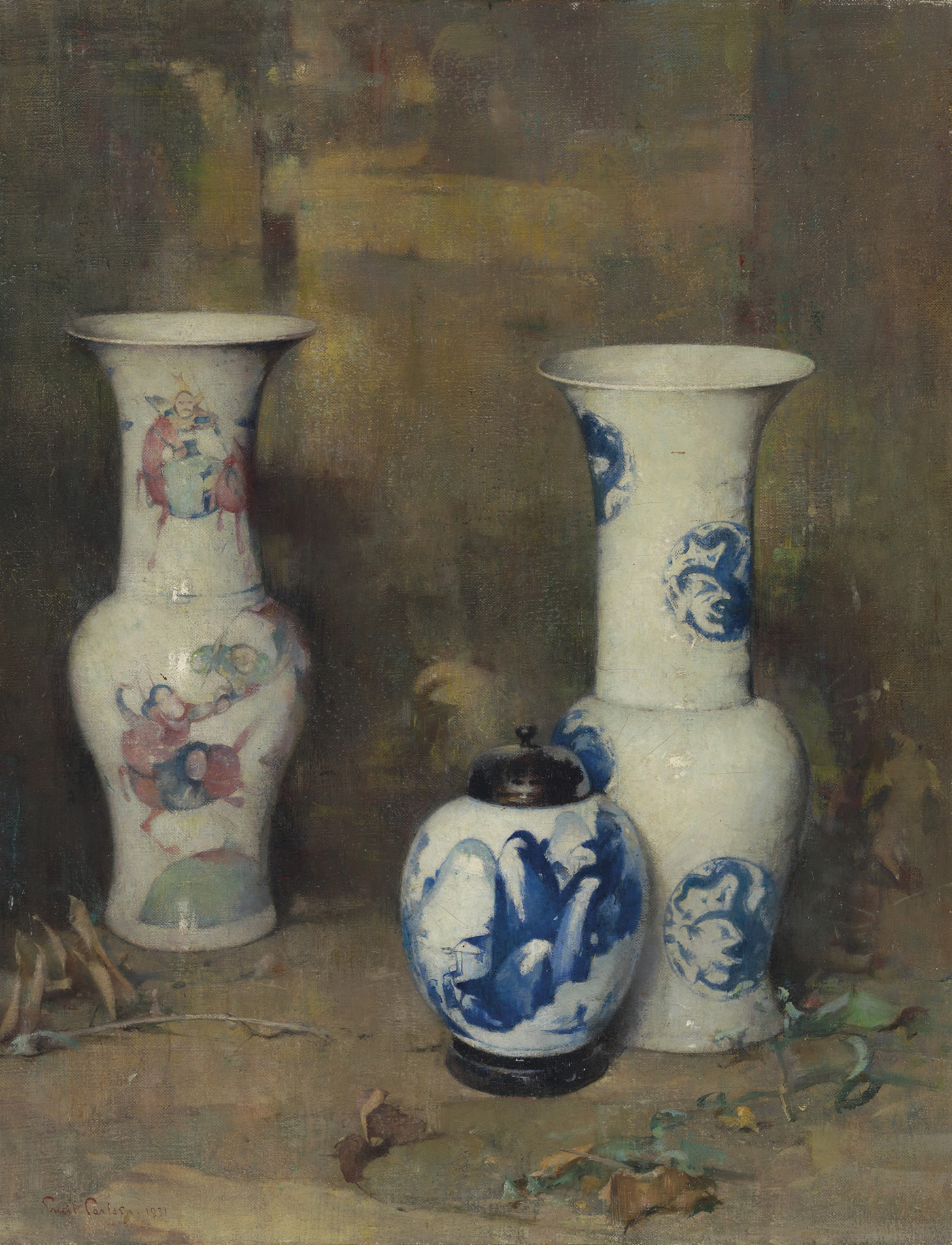 Emil Carlsen Ming Vases [And Ginger Jar], 1931