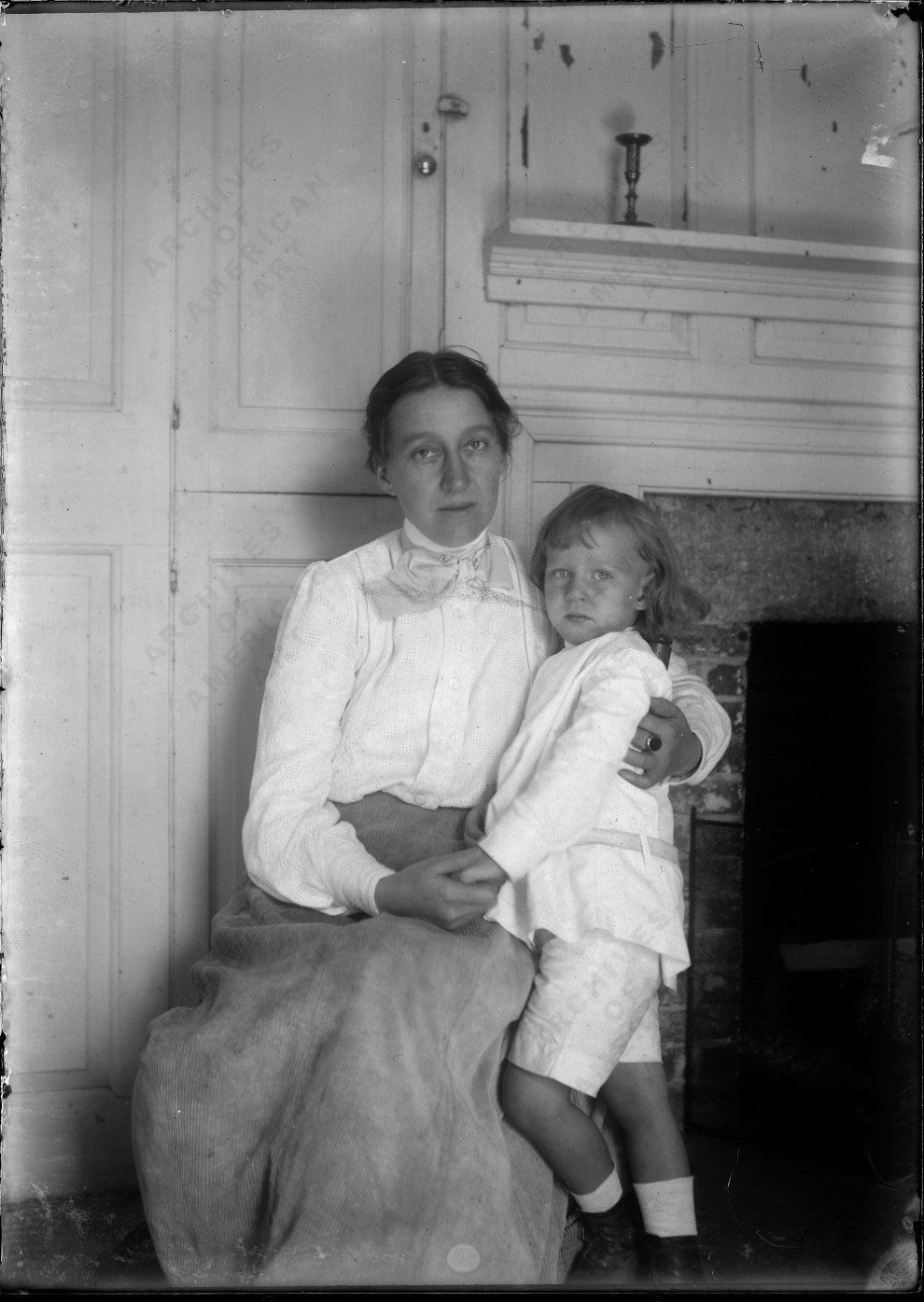 Luella May Carlsen with son Dines at Windham, c.1908