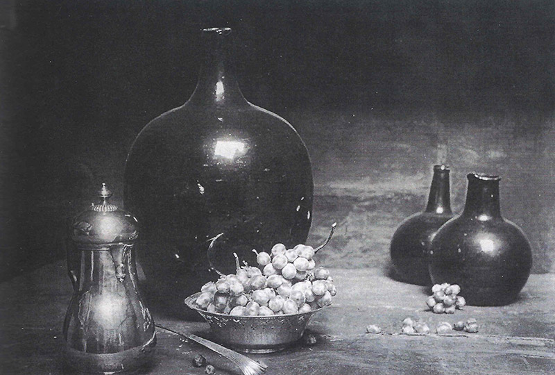 Fig. 21 Photograph of one of Emil Carlsen's still life set ups recorded by Dines