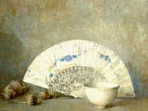 Emil Carlsen : Still life—the fan, 1918.