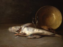 Emil Carlsen : Fish and copper bowl, 1890.