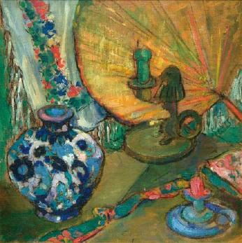 Emil Carlsen Orientalist Still Life