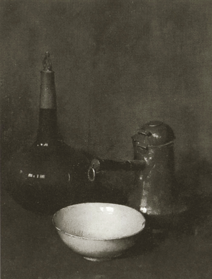 Emil Carlsen White Bowl and Chocolate Pot (also called Still Life with Chinese Porcelain) 1906
