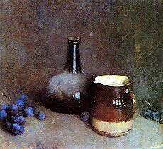 Emil Carlsen Still Life with Grapes, Jar and Pitcher, c.1931