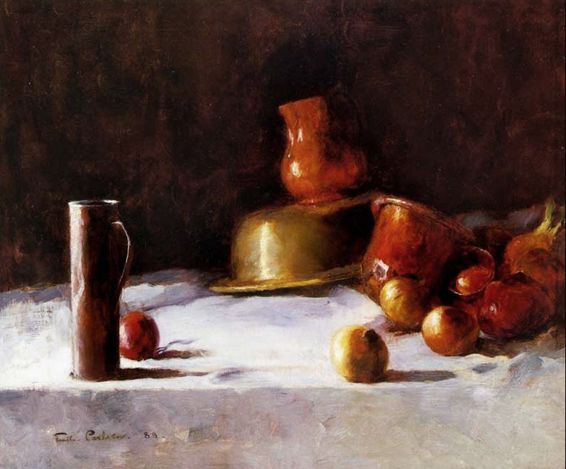 Emil Carlsen Still Life with Copper Brass and Onions, 1888