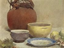 Emil Carlsen Still Life in Pastel (also called Still Life - Arrangement with Water Jug), 1890