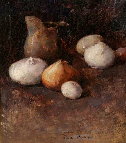 Emil Carlsen Still Life with Onions (also known as Still Life: Pitcher, Onions), 1889