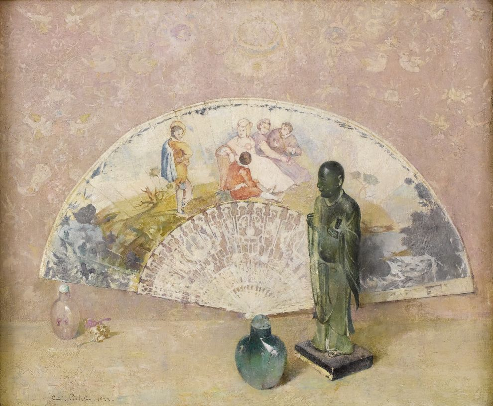 Emil Carlsen : The French fan, 1922.