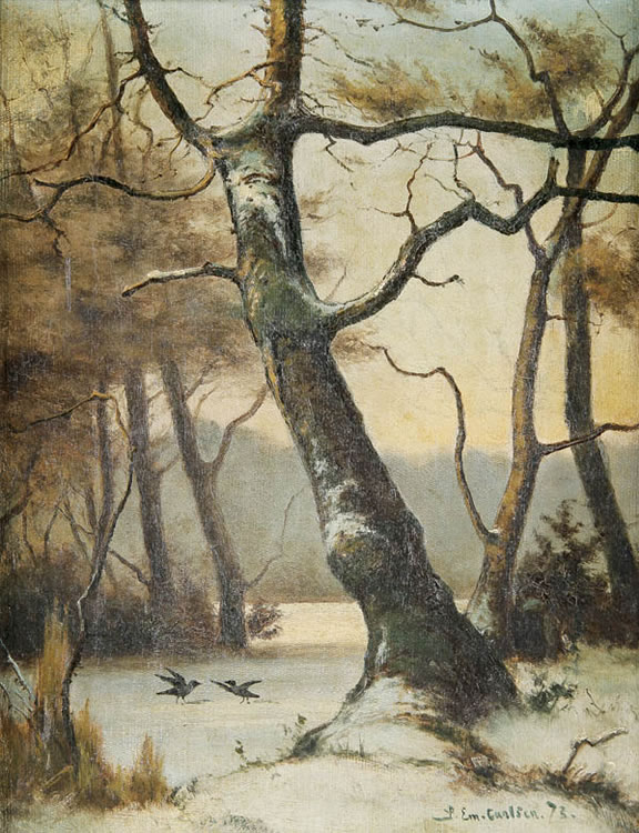 Emil Carlsen Birds On The Edge Of A Lake, 1873