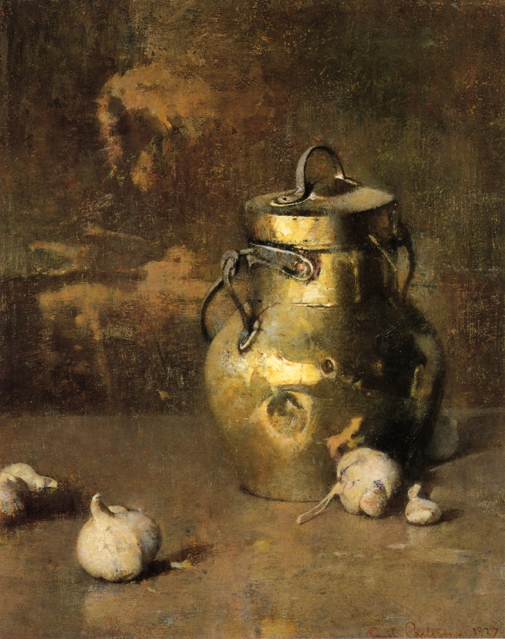 Emil Carlsen Brass Jar with Onions 1927