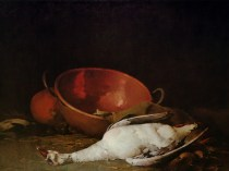 Emil Carlsen Still Life - Goose And Copper Pot (also called Still Life with Brass Bowl), c.1883