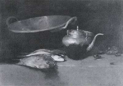Emil Carlsen, Still life with fish, 1894