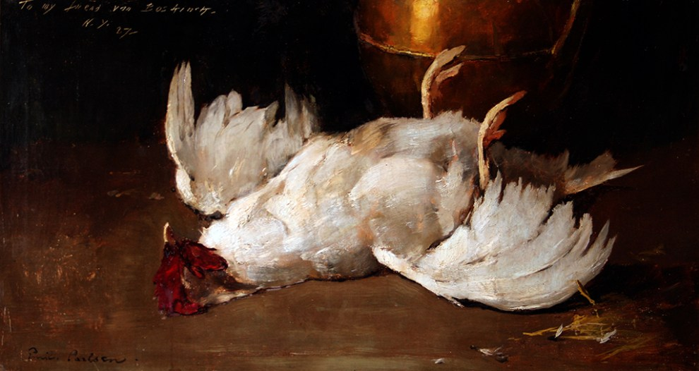 Emil Carlsen Still Life with Fowl and Copper Pot, 1885
