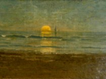Emil Carlsen Sunset Seascape 1880