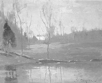 Emil Carlsen Cottage In The Woods By A Lake, 1882