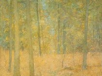 Emil Carlsen A Light in the Forest, c.1918