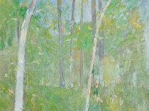 Emil Carlsen Trees in Forest, c.1905