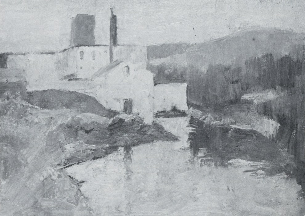 Emil Carlsen Mill by River, c.1920